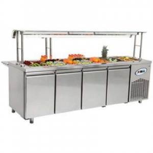 Frenox four door service counter with bain marie for Cuisson four bain marie