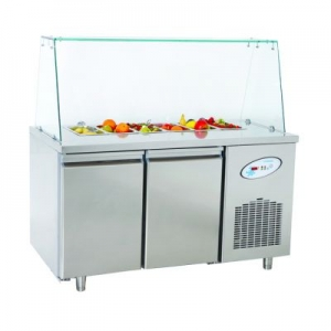CGN2-OG Double Door Service Counter With Glass Cover