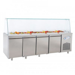 CGN4-OG Four Door Service Counter With Glass Cover
