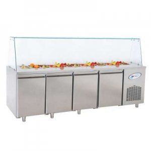 BGN4-OG Four Door Service Counter With Glass COver