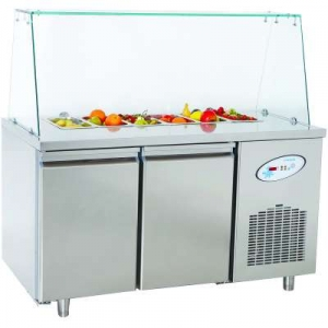 CGN2-TG Double Door Service Counter With Glass Cover