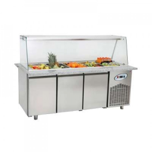 CGN3-TG Triple Door Service Counter With Glass Cover