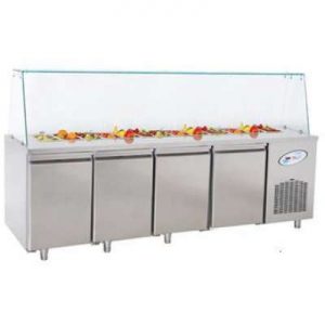 CGN4-TG Four Door Service Counter With Glass Cover