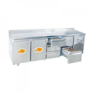 CGN4-ST Four Door Fish Counter Refrigerator