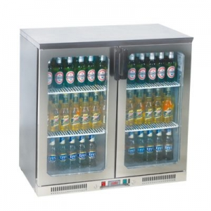 BB250SS Double Door Bottle Cooler